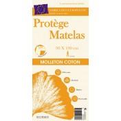LAURENCE PROTEGE MATELAS 90X190CM HOUSSE MOLLETON 100%C