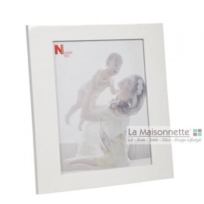 Cadre Photo Rectangulaire en Bois Blanc