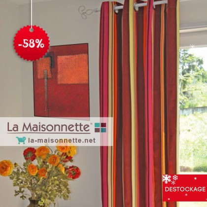 PANNEAU BONITO 135*260CM ROUGE 100% COTON