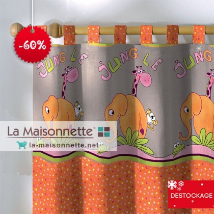 HATHI DOT 135X260CM PAT ORANGE 100%C