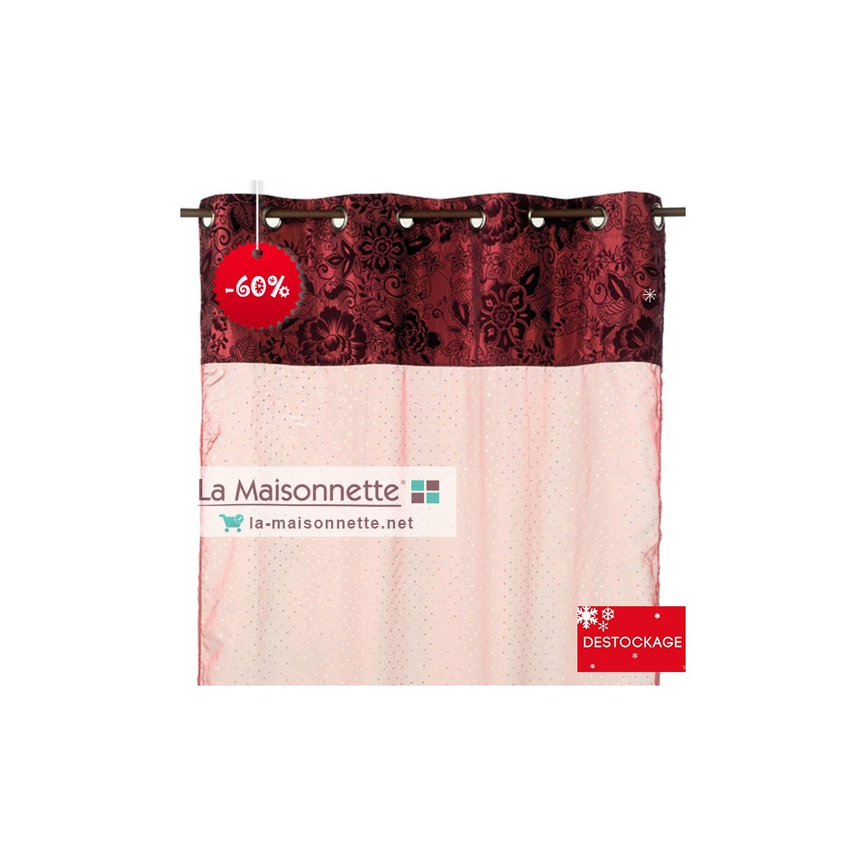 NIRVANA VOILE 135X280CM ROUGE