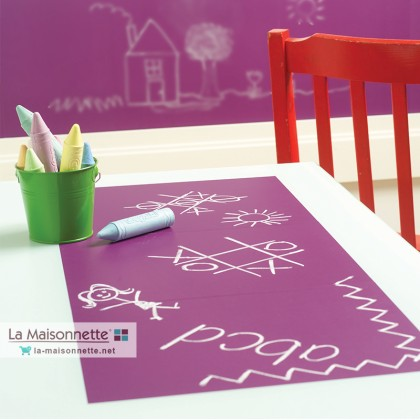 WALLIES GRAPE CHALKBOARD - 4 SHEETS