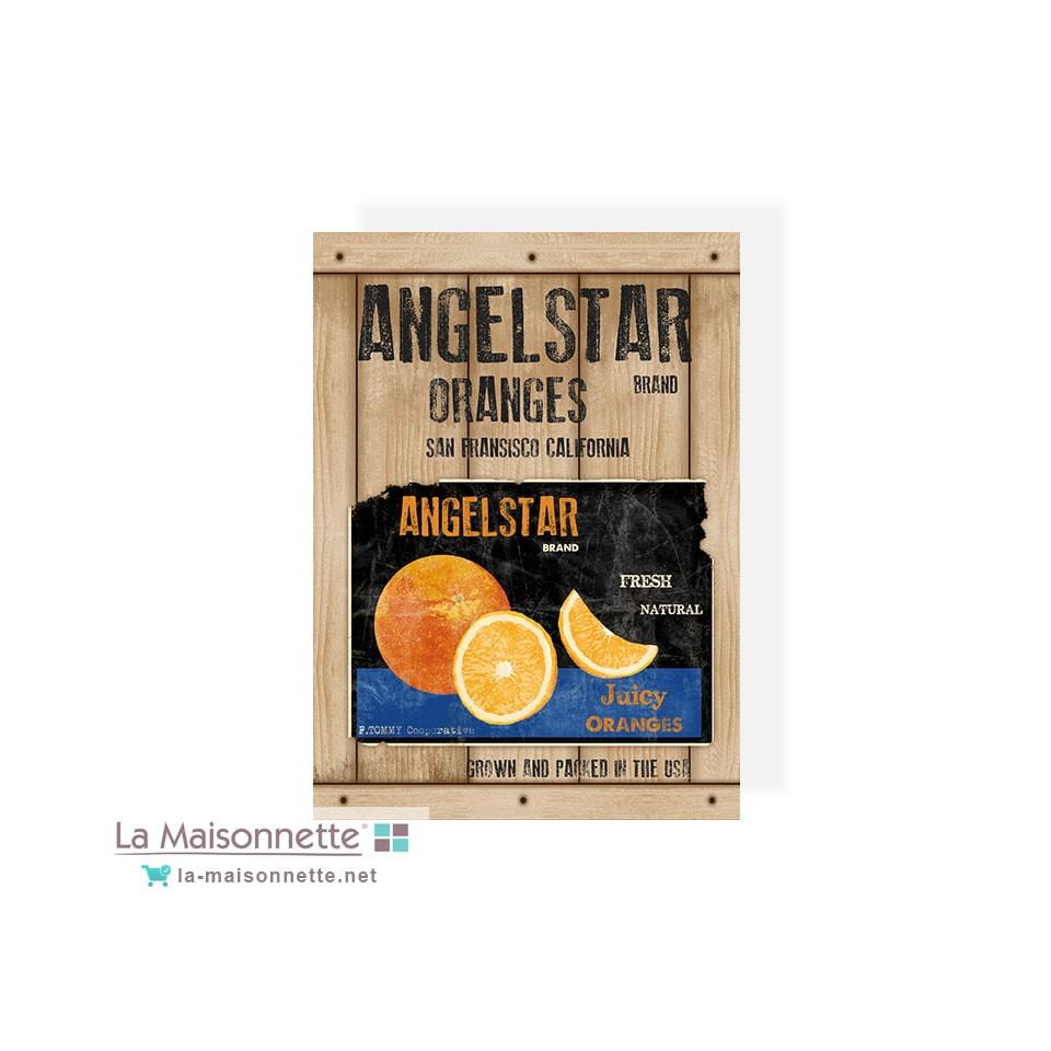 ANGELSTAR TORCHON 50X70 100%COTON SERGE ORANGES