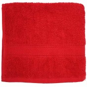 DRAP DE DOUCHE 70X130 100%C ROUGE 450G